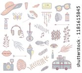 set of images on the theme of...   Shutterstock .eps vector #1181615845