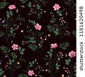 seamless floral pattern with... | Shutterstock .eps vector #1181620498