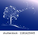 winter background with frosty...   Shutterstock .eps vector #1181625445