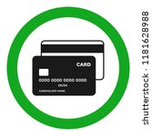 credit cards accepted sign.... | Shutterstock .eps vector #1181628988