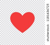 like and heart icon. live... | Shutterstock .eps vector #1181636725