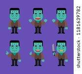 monster character in various... | Shutterstock .eps vector #1181639782