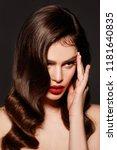 young brunette woman | Shutterstock . vector #1181640835