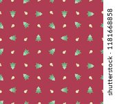christmas seamless pattern... | Shutterstock .eps vector #1181668858