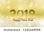 merry christmas card  2019... | Shutterstock .eps vector #1181669098