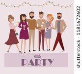 people celebrating poster.... | Shutterstock .eps vector #1181672602