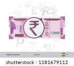 2000 indian rupee banknote.... | Shutterstock .eps vector #1181679112