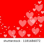 abstract red colorful... | Shutterstock . vector #1181686072