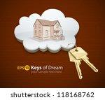 keys of dream house in the... | Shutterstock .eps vector #118168762