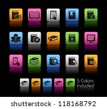 book icons    color box      it ... | Shutterstock .eps vector #118168792