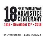 1918 2018 first world war... | Shutterstock .eps vector #1181700325