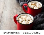 christmas cocoa with... | Shutterstock . vector #1181704252