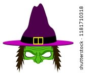 isolated halloween witch...   Shutterstock .eps vector #1181710318