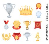 awards and trophies cartoon... | Shutterstock .eps vector #1181714368