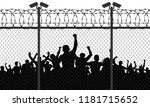 enraged crowd of people are... | Shutterstock .eps vector #1181715652