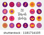 diwali circle stickers with... | Shutterstock .eps vector #1181716105
