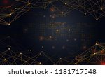 modern abstract network science ... | Shutterstock .eps vector #1181717548
