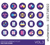 cryptocurrency flat icon set.... | Shutterstock .eps vector #1181718022