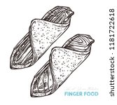 canapes finger food. vector... | Shutterstock .eps vector #1181722618