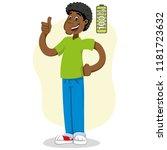 mascot ben man person  with 100 ...   Shutterstock .eps vector #1181723632