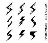 collection storm or energy logo ... | Shutterstock .eps vector #1181729635