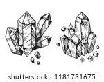 set of cristals.  hand drawn... | Shutterstock .eps vector #1181731675