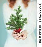 woman hands close up holding...   Shutterstock . vector #1181733805