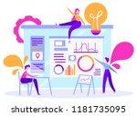 vector illustration of business ... | Shutterstock .eps vector #1181735095
