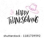 vector hand lettering greeting... | Shutterstock .eps vector #1181739592