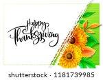 vector greeting thanksgiving... | Shutterstock .eps vector #1181739985
