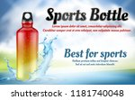 vector promotion banner with... | Shutterstock .eps vector #1181740048