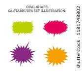 starburst speech bubble set... | Shutterstock .eps vector #1181748802