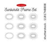 sunbursts frame set. oval shape.... | Shutterstock .eps vector #1181748808