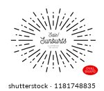 sunburst design element. oval... | Shutterstock .eps vector #1181748835