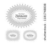 sunbursts frame set. oval shape.... | Shutterstock .eps vector #1181748838