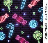 sweet candy neon | Shutterstock .eps vector #1181756812