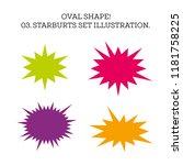 starburst speech bubble set... | Shutterstock . vector #1181758225