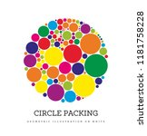 circle packing. geometric... | Shutterstock . vector #1181758228