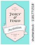 wedding invitation. vintage... | Shutterstock . vector #1181771518