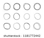 vector hand drawn circles ... | Shutterstock .eps vector #1181772442