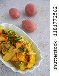 boiled potato with chili...