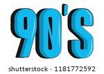 90s retro symbol cartoon   Shutterstock .eps vector #1181772592