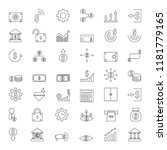 bank icon set | Shutterstock .eps vector #1181779165