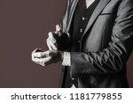 masculine perfume. perfume or...   Shutterstock . vector #1181779855