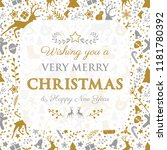 christmas wishes with... | Shutterstock .eps vector #1181780392