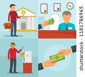 money protect deposit banner... | Shutterstock .eps vector #1181786965