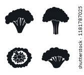 farm broccoli icon set. simple... | Shutterstock .eps vector #1181787025