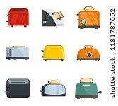toaster kitchen bread gourmet...   Shutterstock .eps vector #1181787052
