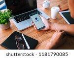 rayong  thailand september 17...   Shutterstock . vector #1181790085