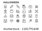 halloween thin line icons.... | Shutterstock .eps vector #1181791648